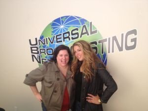 Cindy Hooker and Lizza Morales in the studio discussing Oscars.